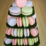 macarontoren desserttafel pastel