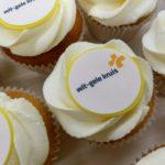 cupcakes taart met logo bedrijven bestellen kempen geel herentals turnhout balen westerlo olen kasterlee mol dessel retie