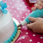 workshop spuittechnieken vrijgezellen spuitzak botercreme versieren taart