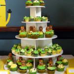 Minion cupcake toren babyborrel