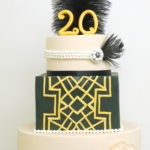 great gatsby cake anniversary goud zwart jubileum geel kempen
